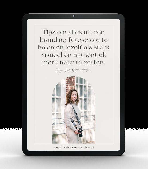 Gratis ebook Haal alles uit een branding fotosessie en zet jezelf als sterk visueel en authentiek merk neer.